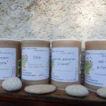 soupoudreuses de sels aromatiques, aromates et parfums